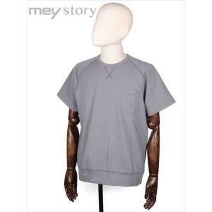 meystory マイストーリー 半袖 クルーネック スウェットトレーナー グレー 胸ポケット付 MS181UA44531 国内正規品|up-avanti
