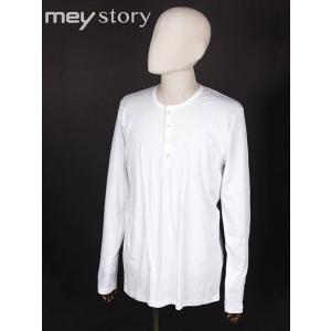 meystory マイストーリー ヘンリーネック 長袖 Tシャツ カットソー ホワイト MS181UA47264 国内正規品|up-avanti