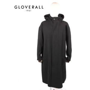 GLOVERALL グローバーオール STUDIO NICHOLSON コラボ フーデッドコート MS5355EM GRAM BLACK ブラック 国内正規品|up-avanti