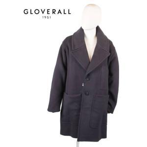 GLOVERALL グローバーオール STUDIO NICHOLSON コラボ チェスターコート オーバーコート MS5356TM NAVY ネイビー 国内正規品|up-avanti