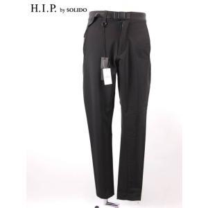 H.I.P by SOLIDO エイチアイピーバイソリード ハイテックナイロンパンツ ストレッチ スポーティ MSH20A5009 ブラック up-avanti