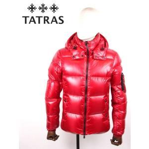 TATRAS タトラス BELBO 光沢 シャイニー ナイロンダウンジャケット フード取り外し可能 MTA20A4562 RED レッド 国内正規品 up-avanti