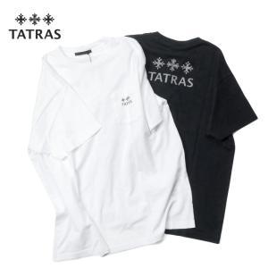 TATRAS タトラス OCEANO ブランドロゴ バックプリント 半袖 Tシャツ カットソー メンズ MTAT21S8122-M 国内正規品 up-avanti