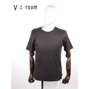 【国内正規品】V::room ヴイルーム クルーネック 半袖Tシャツ シンプル MVB20A8000 C.GRAY チャコールグレー up-avanti