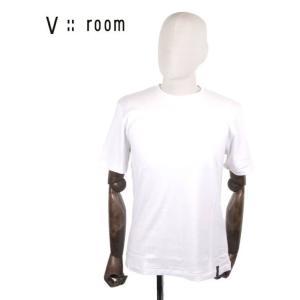 【国内正規品】V::room ヴイルーム クルーネック 半袖Tシャツ シンプル MVB20A8000 WHITE ホワイト up-avanti