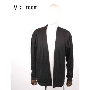 【国内正規品】V::room ヴイルーム カーディガン ボタンレス シンプル MVB20A8003 BLACK ブラック|up-avanti