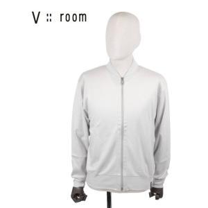 【国内正規品】V::room ヴイルーム ジップアップカーディガン シンプル MVB20A8004 GRAY グレー|up-avanti