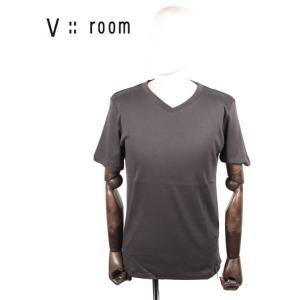 【国内正規品】V::room ヴイルーム Vネック半袖カットソー シンプル MVB20S8001 C.GRAY チャコールグレー up-avanti