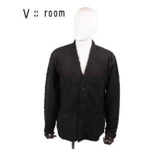 【国内正規品】V::room ヴイルーム カーディガン アクリルウール 起毛素材 MVB20S8017 BLACK ブラック|up-avanti