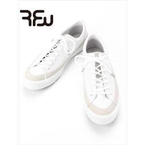 RFW スニーカー BAGEL-LO LEATHER ベーグルロー レザー ホワイト R-1812252 アールエフダブリュー 国内正規品 up-avanti