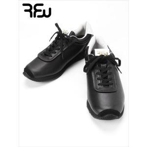 RFW アールエフダブリュー レザースニーカー ブラック KOPPE LO LEATHER R-1837012 ビブラムソール 日本製 国内正規品 up-avanti