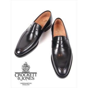 CROCKETT&JONES クロケットアンドジョーンズ SYDNEY シドニー カーフ ローファー 革靴 本革 25351A-S01C1 ブラック 国内正規品|up-avanti
