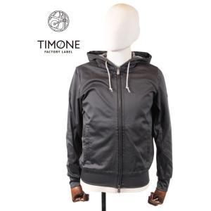 【国内正規品】 TIMONE ティモーネ カジナイロン ジップアップパーカー コットンナイロン チャコールグレー TM1407131 チャコールグレー|up-avanti