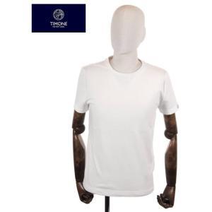 【国内正規品】 TIMONE ティモーネ パイル 半袖カットソー キシリトール 冷感 Tシャツ 無地 TM2407144 WHITE ホワイト|up-avanti