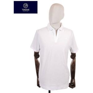 【国内正規品】 TIMONE ティモーネ パイル スキッパー ポロシャツ 半袖 TM2907413 WHITE ホワイト|up-avanti