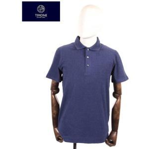 【国内正規品】 TIMONE ティモーネ パイル ポロシャツ 半袖 TM3007142 NAVY ネイビー|up-avanti