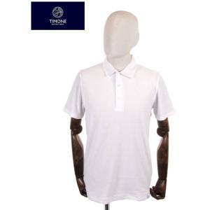 【国内正規品】 TIMONE ティモーネ パイル ポロシャツ 半袖 TM3007142 WHITE ホワイト|up-avanti