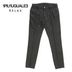 1PIU1UGUALE3 RELAX ウノピゥウノウグァーレトレ リラックス スラックス ドローコード ストレッチ USB-21001 ブラック 国内正規品|up-avanti