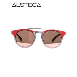 【国内正規品】ALSTECA アルステーカ VENETIAN(ボスリントンタイプ) サングラス レッド×グレー ve-c03|up-avanti