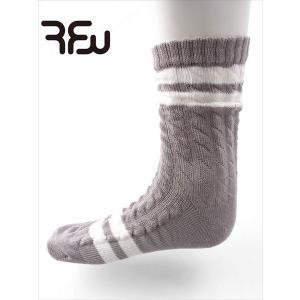 RFW アールエフダブリュー FISHERMAN LINE フィッシャーマン ニット 靴下 ボーダーソックス グレー×ホワイト W-1813071 国内正規品 up-avanti