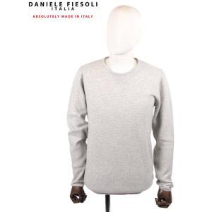 【国内正規品】DANIELE FIESOLI ダニエレフィエゾーリ カシミアクルーネックニット WS3115 GRAY グレー up-avanti
