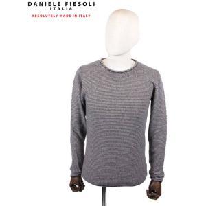 【国内正規品】DANIELE FIESOLI ダニエレフィエゾーリ カシミアクルーネックニット WS3115 NAVY ネイビー up-avanti