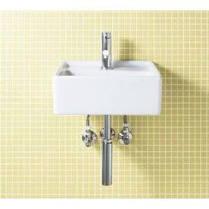 INAX コンパクト洗面器[水栓金具一体タイプ][壁付タイプ][壁給水・ボトルトラップ][シングルレバー混合水栓] GL-A531SG(C)|up-b