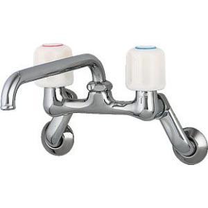 水道材料 カクダイ 2ハンドル混合栓 1240S-170 [新品]|up-b