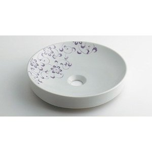 カクダイ 丸型手洗器//ラベンダー【493-097-PU】【493097pu】[新品]【RCP】 up-b