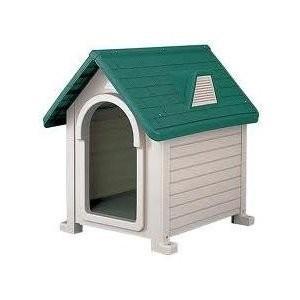 リッチェル 犬小屋 ドッグハウス 室外 屋外 ペットハウスDX-490 (超小型犬〜中型犬用)|up-b