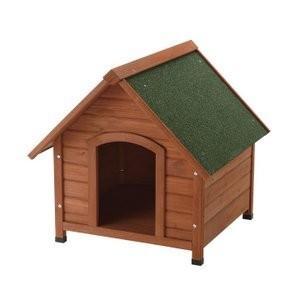 リッチェル 犬小屋 ドッグハウス 室外 屋外 防寒 木製犬舎830 (小型犬〜中型犬用)|up-b