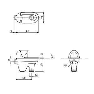 INAX LIXIL リクシル 幼児用施設器具 セット 幼児用和風便器【C-415】[新品]|up-b