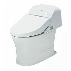 TOTO パブリック向け ウォシュレット  一体形便器 一般地 乾電池リモコン 給水:壁床共通 排水:床 排水心:200mm【CES956】|up-b