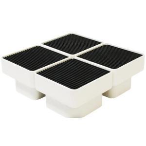 テクノテック[TECHNOTECH] 洗濯機設置台座 D105  4個セット 157×157×105 (一般用) イージースタンド [新品]|up-b