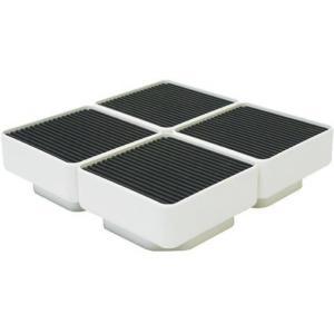 テクノテック[TECHNOTECH] 洗濯機設置台座 D77  4個セット 157×157×77 (TP-640用) イージースタンド [新品]|up-b