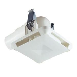 MAX[マックス株式会社] 換気関連部材 ES-50KLW3 角型給気グリル エルボ・曲 風量調節機能付 色:白 [JD90080]換気扇|up-b
