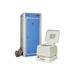 アクト石原 組み立て式簡易仮設トイレ+ポータブル水栓トイレ8Lセット FOT-101-B [新品] up-b