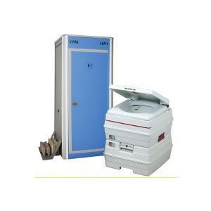 アクト石原 組み立て式簡易仮設トイレ+ポータブル水栓トイレ24Lセット FOT-103-B [新品] up-b