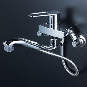 KVK 【FSK110KZSFTT】 シングルレバー式シャワー付混合栓 寒冷地対応 キッチン用水栓 > 壁付シングルレバー 【NP後払いOK】|up-b