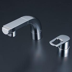 KVK 【FSL120DKCT】 洗面用シングルレバー(湯側回転角度規制) 洗面用水栓 > 台付洗髪シングルレバー 【NP後払いOK】|up-b