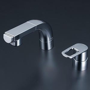 KVK 【FSL120DZET】 シングルレバー式洗髪シャワー(eレバー) 寒冷地対応 洗面用水栓 > 台付洗髪シングルレバー 【NP後払いOK】|up-b