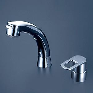 KVK 【FSL121DET】 シングルレバー式洗髪シャワー(eレバー) 洗面用水栓 > 台付洗髪シングルレバー 【NP後払いOK】|up-b