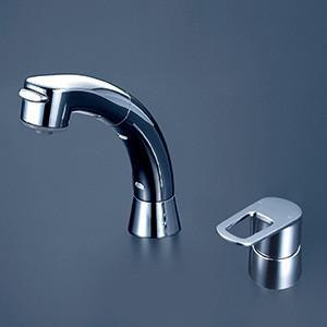 KVK 【FSL121DZT】 シングルレバー式洗髪シャワー 寒冷地対応 洗面用水栓 > 台付洗髪シングルレバー 【NP後払いOK】|up-b