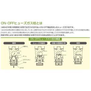 光陽産業 LB二口ペアON・OFFヒューズガス栓 都市ガス用 G025-12R|up-b|02