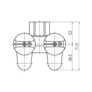 光陽産業 LB二口ペアON・OFFヒューズガス栓 都市ガス用 G025-12R|up-b|04