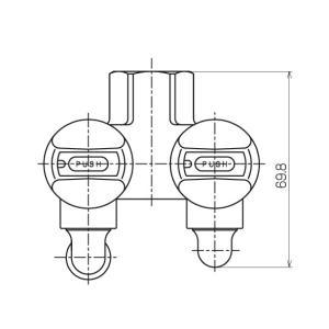 光陽産業 LB二口ペアON・OFFヒューズガス栓 LPG用 G025Z-12PR|up-b|03