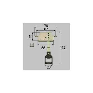 LIXIL リクシル トステム 雨戸錠(上用)[新品]|up-b