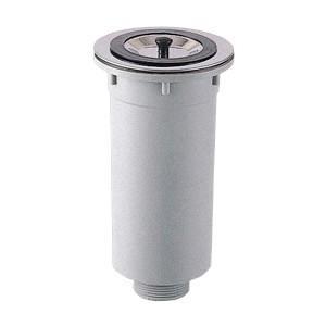 三栄水栓[SANEI] キッチン用品 流し排水栓 カゴ付流し排水栓 【H65-50】[新品]|up-b