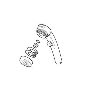 KVK ケーブイケー 旧MYMバス水栓用ワンストップシャワーヘッド【HC39DW-D】|up-b