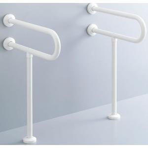 INAX LIXIL・リクシル 各種施設用固定式手すり KF-312AE55 600mm 洗面器用手すり(壁床固定式) 樹脂被覆タイプ[新品]|up-b